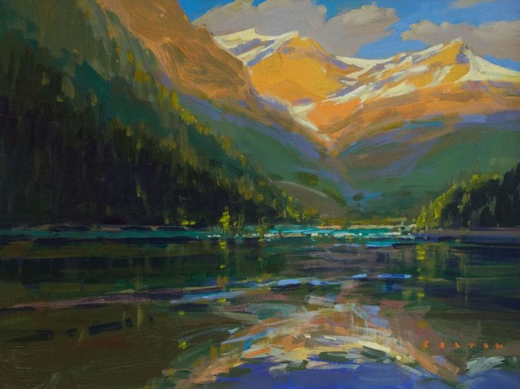 'Lake O'hara Golden Hour' by Charlie Easton