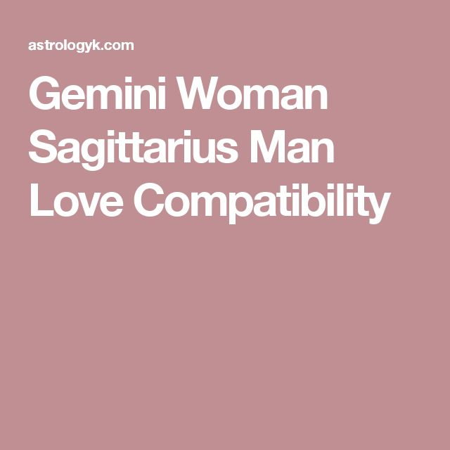 gemini woman and sagittarius man relationship