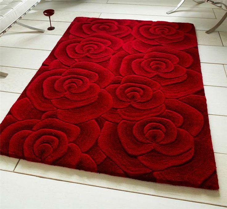Valentine Red Roses Rug