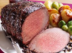 Rosemary Roast Beef with Balsamic and Cranberry Glaze   Simply Beef and Lamb