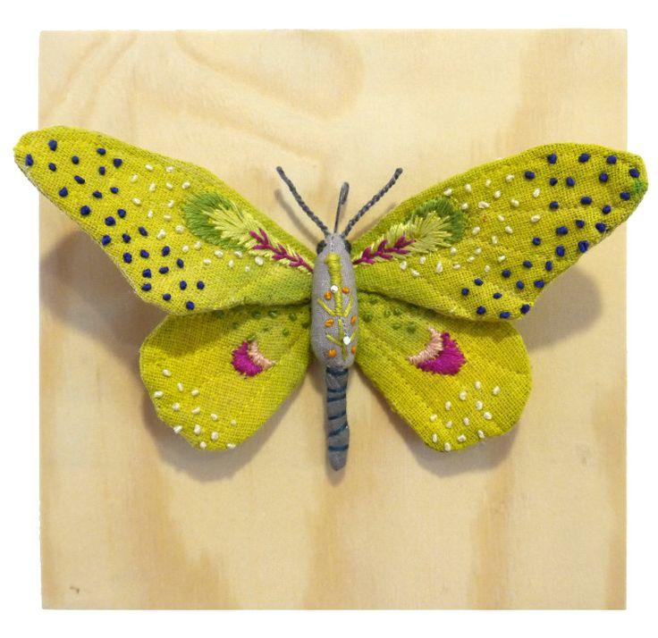 Yumi Okita--Irohandbags...beautiful butterfly and embroidery!...inspiration only