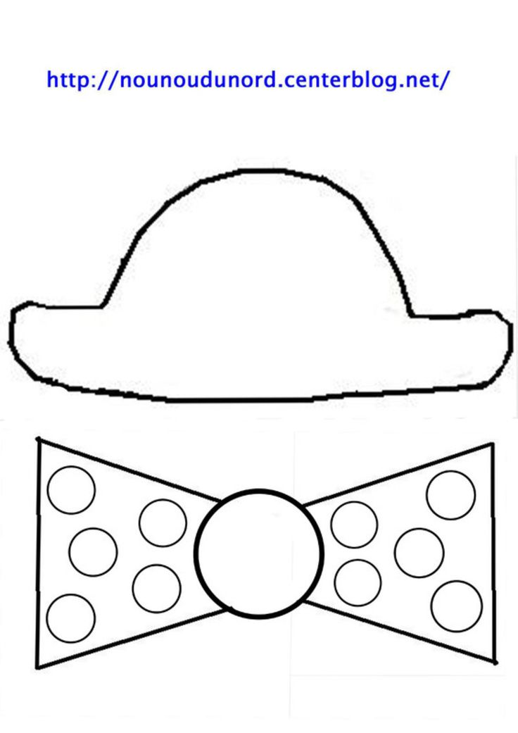 Masque tête de clown chapeau et noeud Imprimer les fichiers: .acrobat.com/ **************** *Mardi gras, carnaval * Découvrez nos Activités cliquez: .ici. tous mes masques : .ici. Coloriages ...