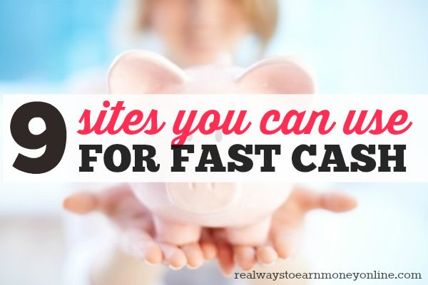 Do you need a little extra cash? The following nine sites allow you to earn some extra cash online and get paid within a day or two.