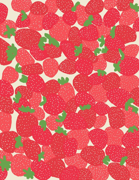 Fine Art Print.  Strawberries.  July 28 2011. by joreyhurley, $80.00