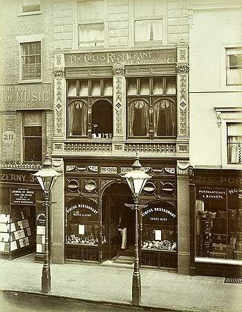 Circus Restaurant, 213 Oxford Street, Marylebone St Johns Wood And Mayfair, Greater London 1886