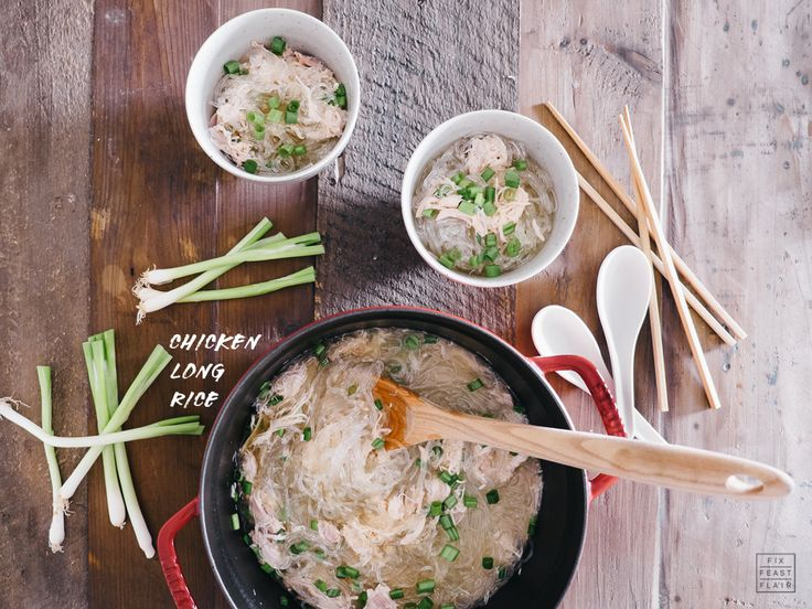 Like all the recipes I'm sharing this week, chicken long rice is easy to make and it really only has a few ingredients: chicken, chicken broth, ginger, garlic, green onions, bean thread or cellophane noodles (long rice), and Hawaiian salt!  Simple!