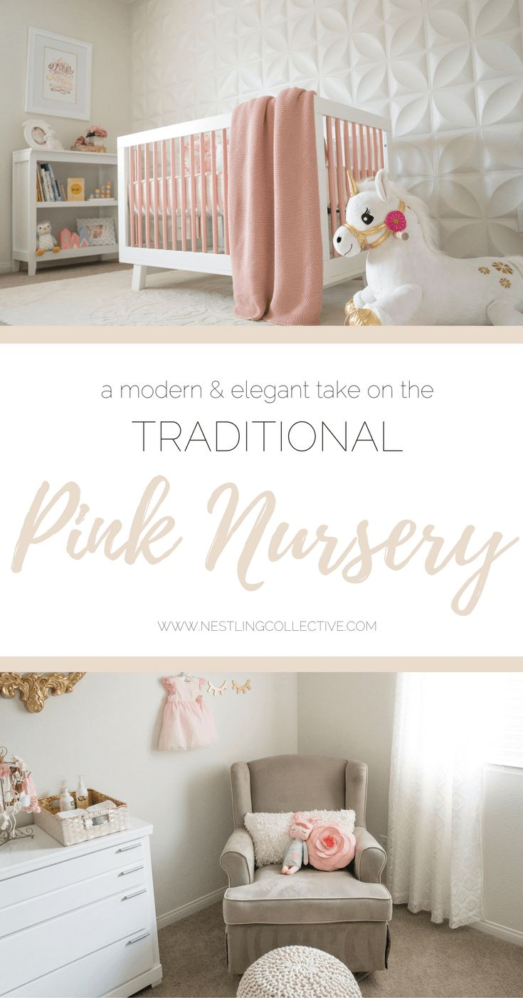 Pink done RIGHT! Britta has created the most divine space for her 4-month-old daughter, Katja (on Instagram as @lovely_katja) with a modern and elegant take on the traditional pink nursery. Baby Girl Nursery   Nursery Ideas   Nursery Decor
