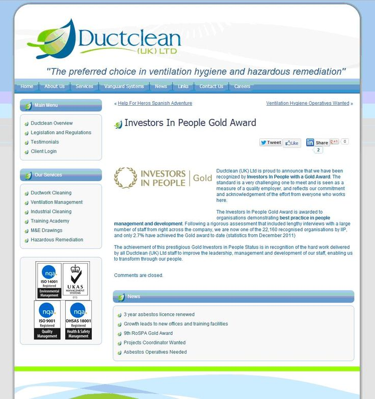 Ductclean attains Investors in People Gold