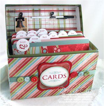 boite pour cartes, anniversaires et autres