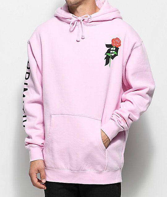 5e95b73e59887 Primitive Heartbreakers Pink Hoodie in 2019