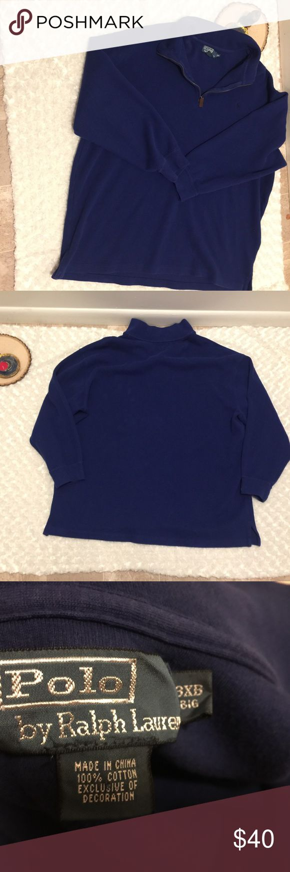Polo Ralph Lauren Men's Long Sleeve Shirt 3X Long sleeve Polo. Pre-owned, gently used condition with no flaws. Size 3X. Color: royal blue. Polo by Ralph Lauren Shirts Polos