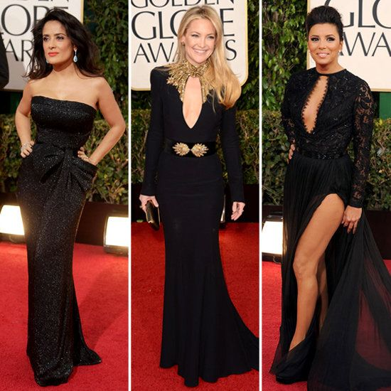 Salma, Kate, and More Bring (Not-So-Basic) Black Gowns to the Globes
