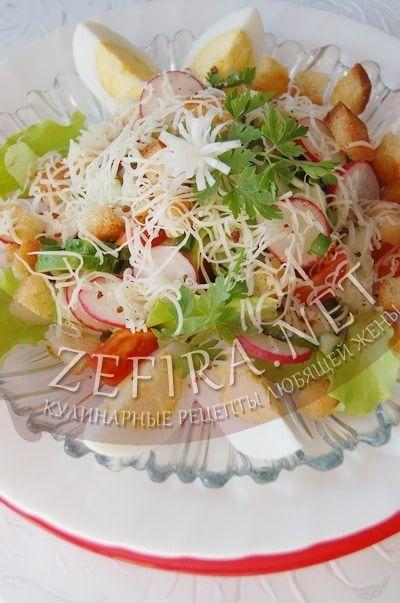 Салат из редиса с огурцом и яйцом - рецепт и фото