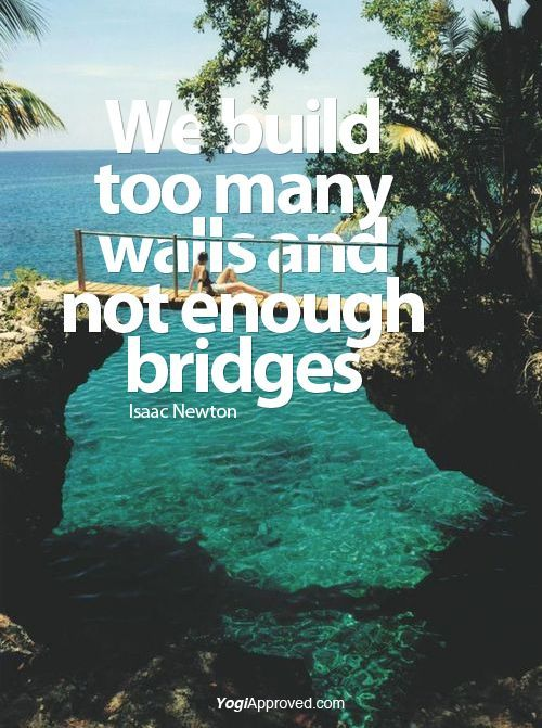 Image result for build a bridge spiritual