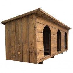 Cuccia in legno per tre cani da esterno HERA TRIS