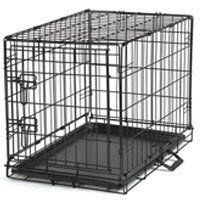 $16.99 Dog Crates for Sale dog crates cheap cheap dog crates Crating your pooch has never been easier and more affordable! The Single Door Black Metal Wire Economy Dog Crate comes complete with a dual latching door to safely secure your new puppy.