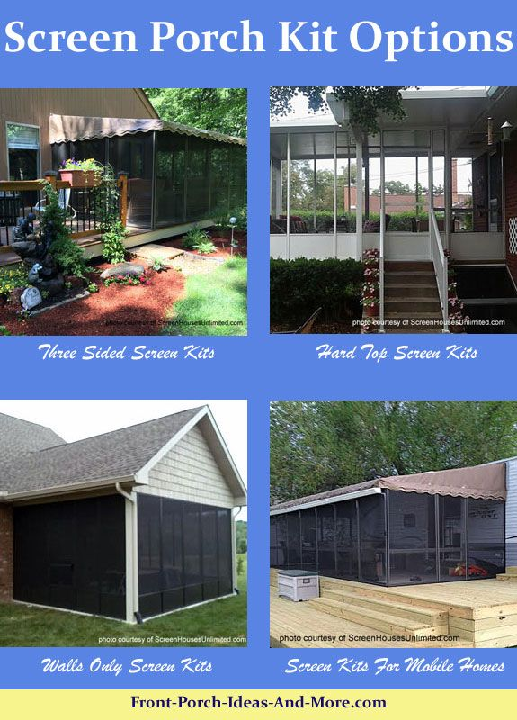 A Screen Porch Kit Is A Great Way To Make A Porch Enclosure. Screen Porch  Kits Options For Mobile Homes