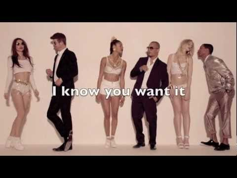 Robin Thicke - Líneas borrosas (ft TI & Pharrell) HD con letras en la pantalla - YouTube