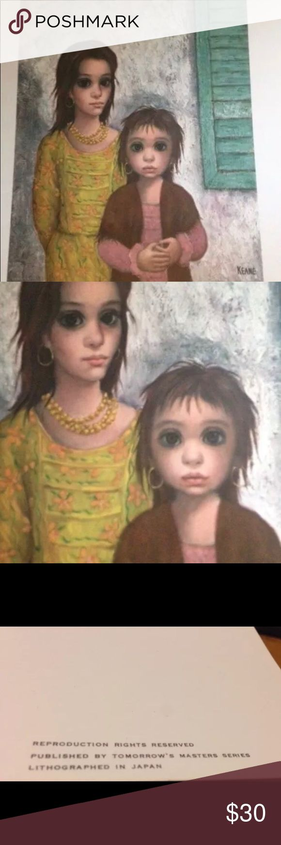 Vintage Margaret Walter Keane Print The Gypsies Big eyes. This lithium print is from the 1960's. Walter Margaret Keane Other