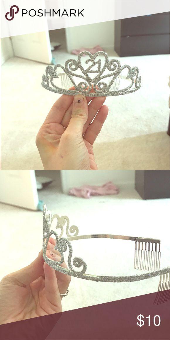 21 Birthday tiara Sparkly 21st birthday tiara. Never worn! Accessories Hair Accessories
