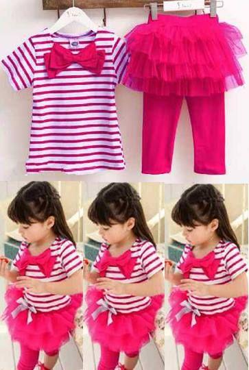 Korean Kids Set, Bahan Spandex Salur Ori + Legging Combi Tile     Anak umur 5-7 tahun     Harga : Rp. 93.500,-/stel     Kode Produk / Product Code : BAP2824