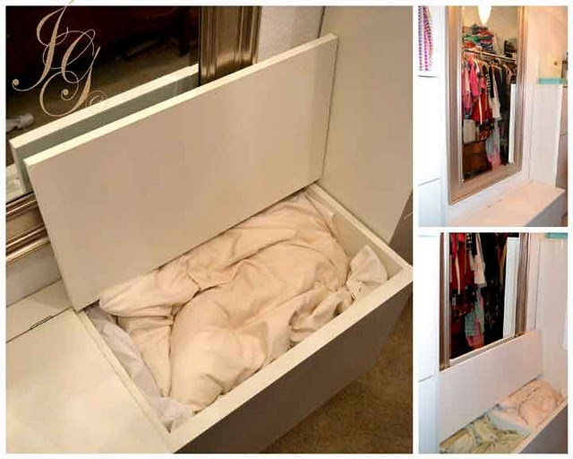 Ikea Hack :: Blanket and Pillow Chest - This could be good in front of a window