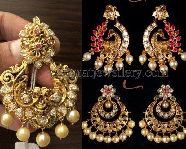 Jewellery Designs: gold earrings