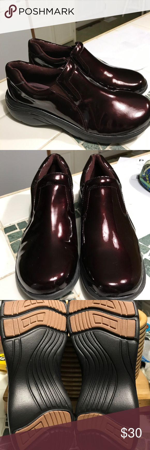 Nurse Mates shoes size 10 These are great shoes and I think I wore them 3 times. I just don't need them anymore.  They are a burgundy color Nurse Mates Shoes Flats & Loafers