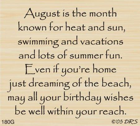 August Birthday Greeting