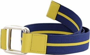 Shopit Casual Belt, Size S, Patterned Belt, 5 Punched Holes, Ideal for Unisex, PDM Nappa Leather, Nylon and Cotton Strap.