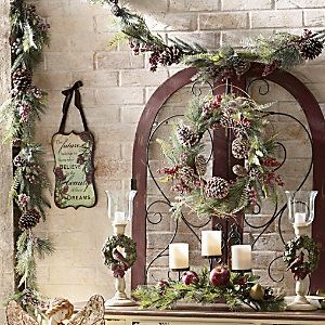 Winter Frost Wreath and Garland | Add a wintery touch that will stand the test of & 52 best Home for the Holidays by Country Door images on Pinterest ... Pezcame.Com