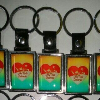 Keychain promotion with coating technical By www.bentaraunik.com