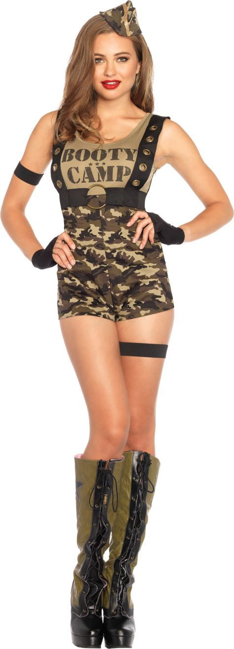 Adult Booty Camp Cutie Army Costume - Party City