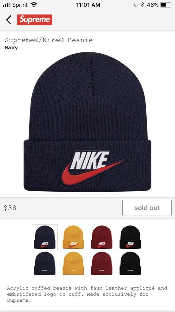 283a049c7d7 Supreme Nike Beanie Navy FW18 (CONFIRMED ORDER)  fashion  clothing  shoes   accessories  mensaccessories  hats  ad (ebay link)