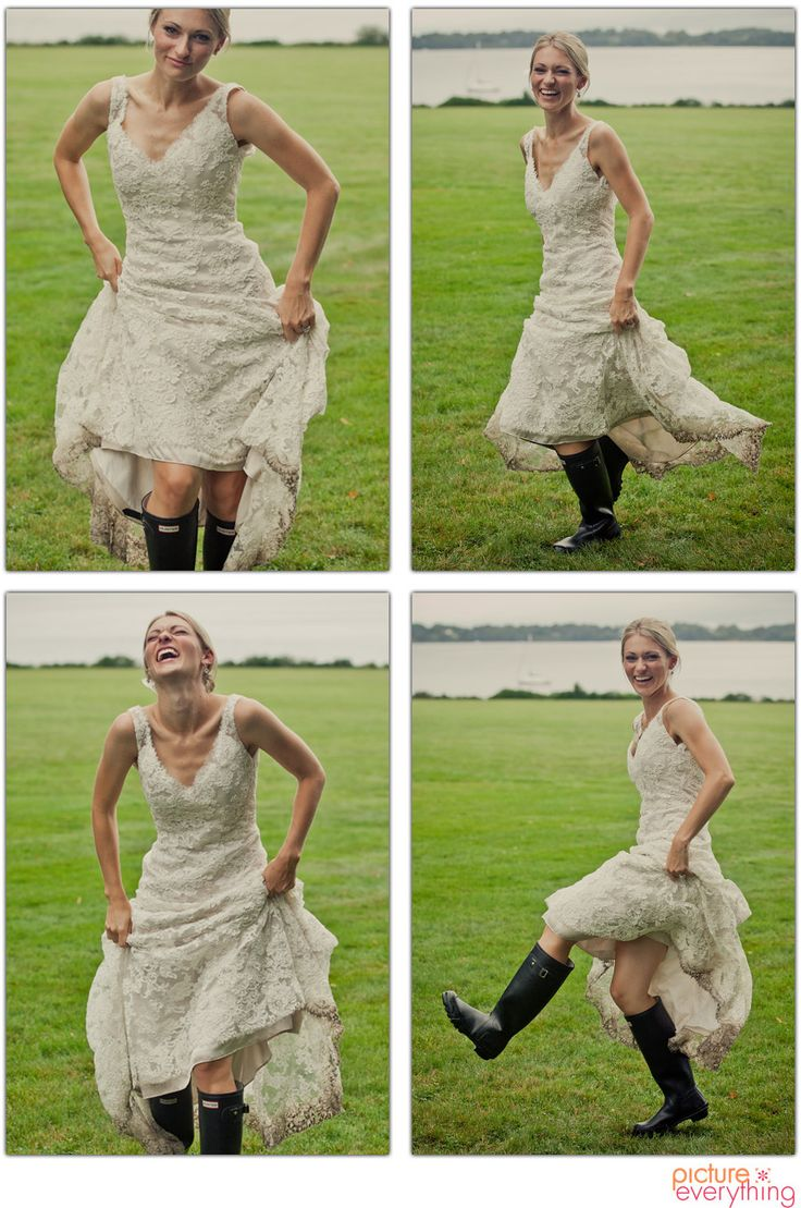 Bride in hunter boots (kristin-studio-com)