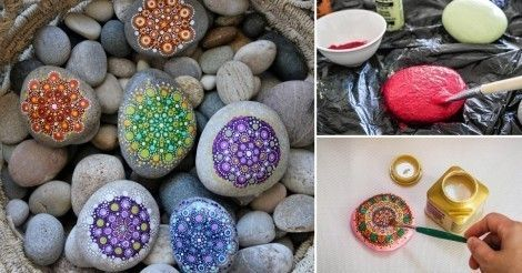 Cómo pintar mandalas en piedras