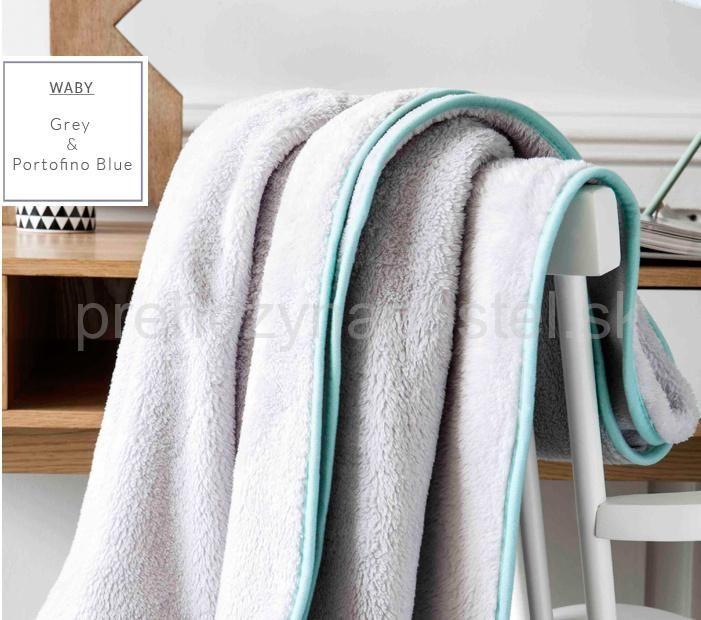 Francúzske deky na posteľ   Luxusné francúzske deky v sivej farbe so svetlo…
