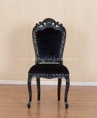 Černá zámecká retro židle