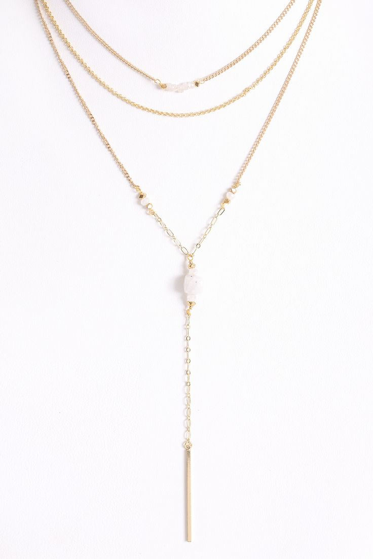 South Moon Under Three Layer Drop Necklace   South Moon Under