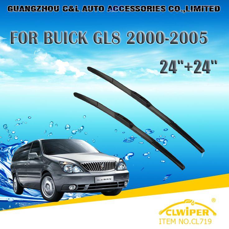 "Wiper Blades For BUICK GL8(2000-2005) 01 02 03 2004 Car Windscreen Wiper Windshield Wiper Blade 24""+24"" Cars styling accessories"