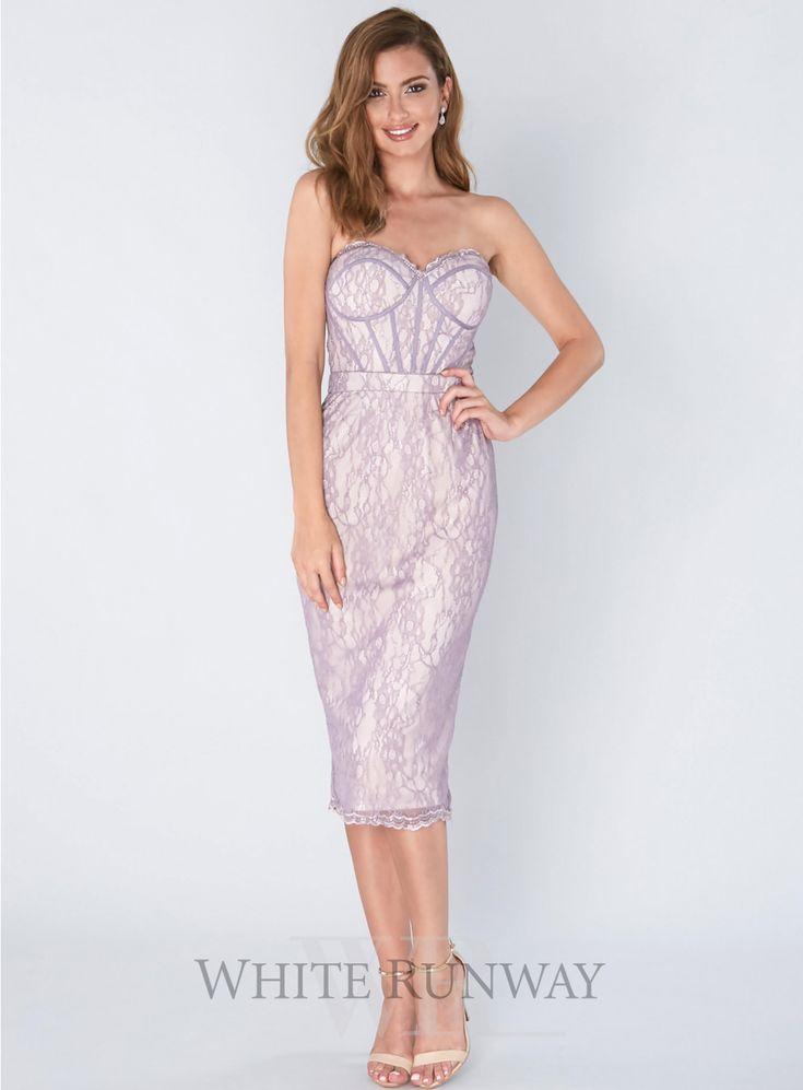 150 best the girls bridesmaids images on pinterest for Midi length wedding dress