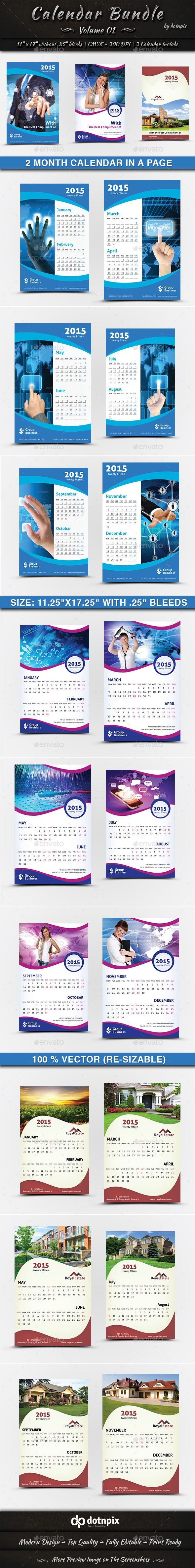 #Calendar Bundle   Volume 1 - Calendars #Stationery Download here: https://graphicriver.net/item/calendar-bundle-volume-1/9198894?ref=alena994