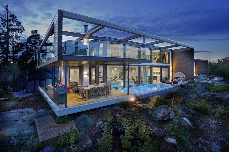 Honkatalot - Moderni city-hirsitalo Custom Home II #habitare2015 #design #sisustus #messut #helsinki #messukeskus
