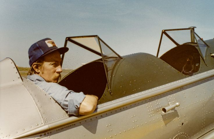 Bill Dekker in a Ryan PT-22 Rio Vista Airport California.