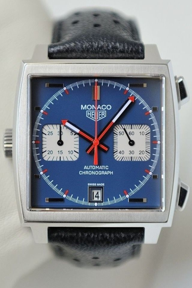 Alway makes me look, timeless style....Tag Heuer Monaco