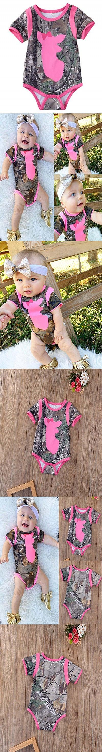 Newborn Infant Baby Girls Boys Clothes Deer Romper Jumpsuit Playsuit Outfit (3~6 month)