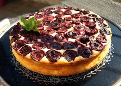 CHEZ LUCIE: Tvarohový koláč s třešněmi
