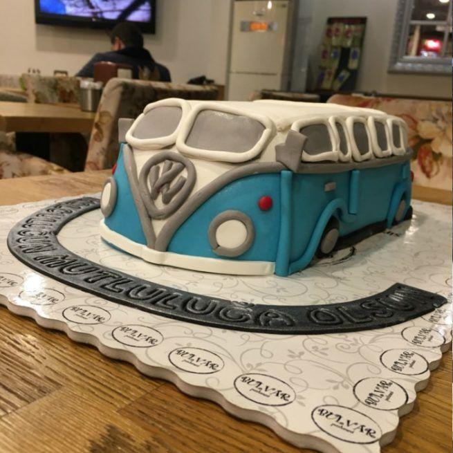 Volkswagen Minibüs Pasta • 1 Dakikada Sipariş Ver! • Bulvar Pastanesi #pasta #cake #butikpasta #volkswagen