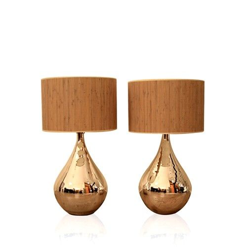 Gold drop lamps! <3