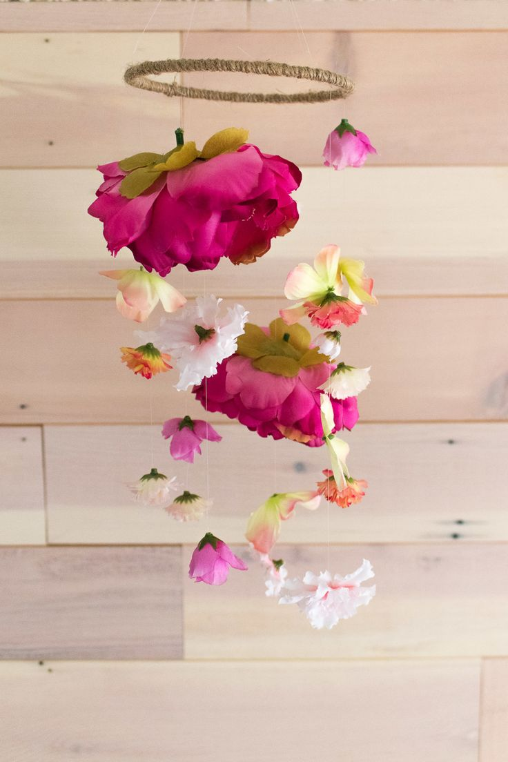 How to Make A Floral Mobile.             Gloucestershire Resource Centre http://www.grcltd.org/scrapstore/